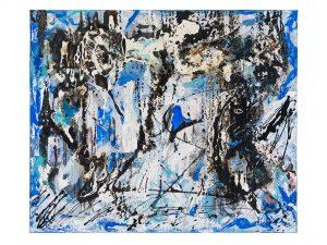 """Ursula Schregel, """"Kalt-Front"""", 100x120cm, Mischtechnik auf Leinwand"""