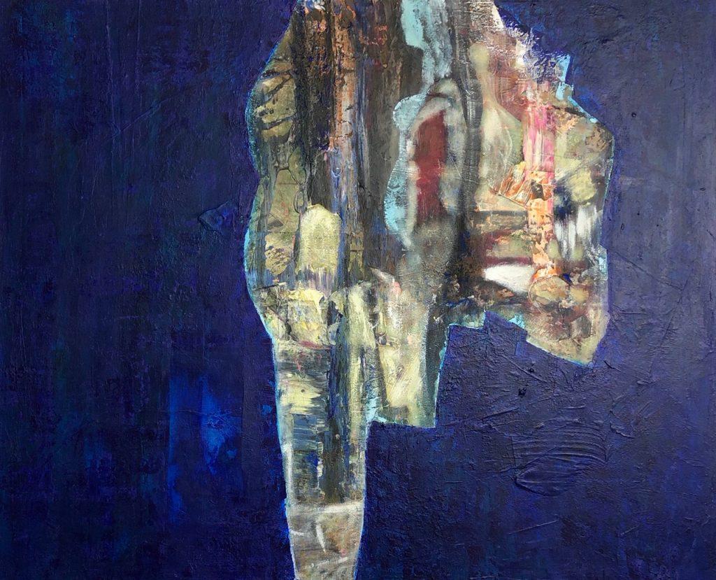 Ursula Schregel, Pregnant, 2019, Acryl auf Leinwand, 100x120cm