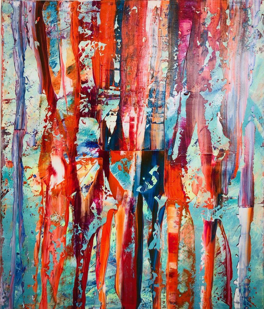 Ursula Schregel, ohne Titel, 2019, Acryl auf Leinwand, 120x100cm