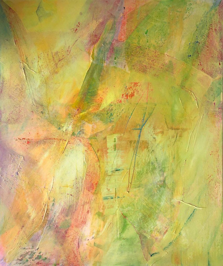 Ursula Schregel ohne Titel, 2019, Acryl und Tusche auf Leinwand, 120x100cm