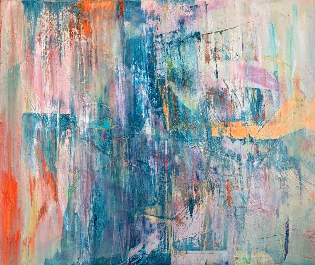 Ursula Schregel, Siri, 2019, Acryl und Tusche auf Leinwand, 100x120cm