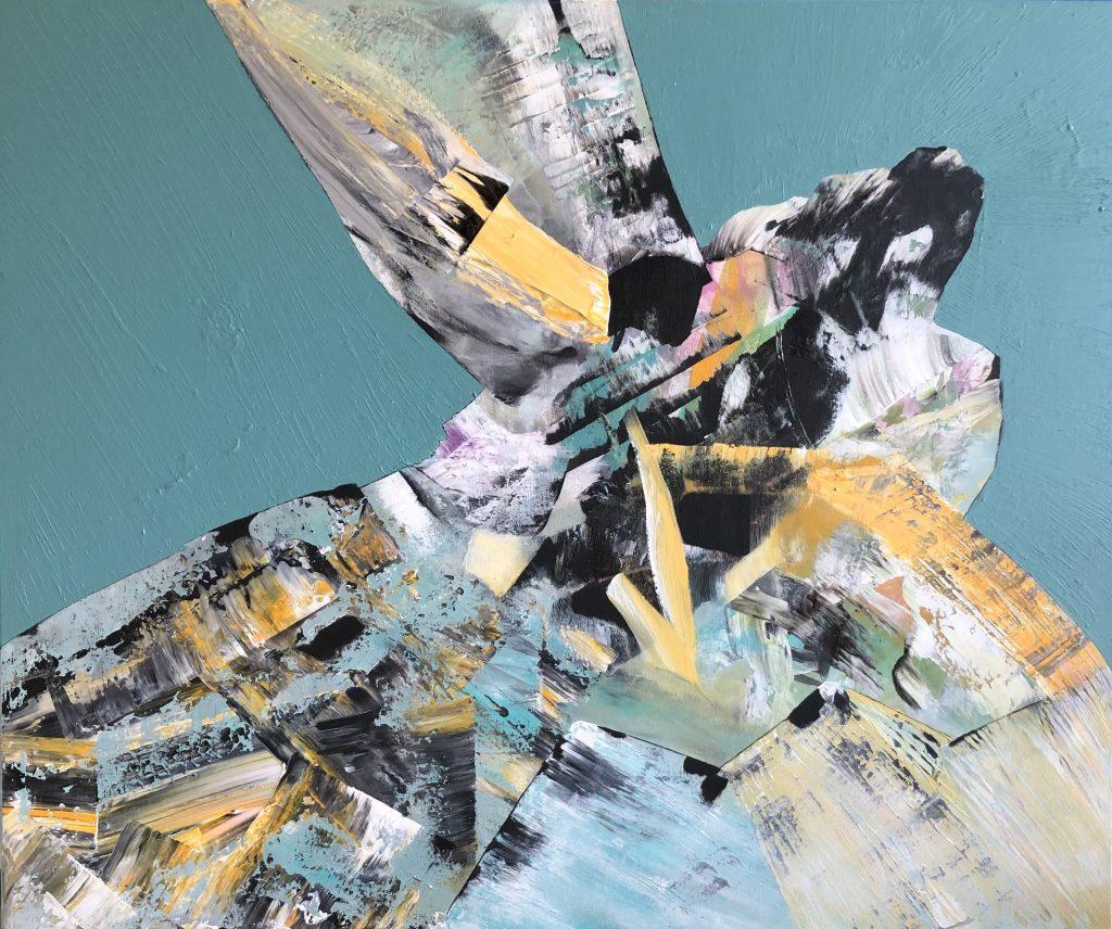 Ursula Schregel, Dance of Joy, 2019, Acryl auf Leinwand, 100x120cm