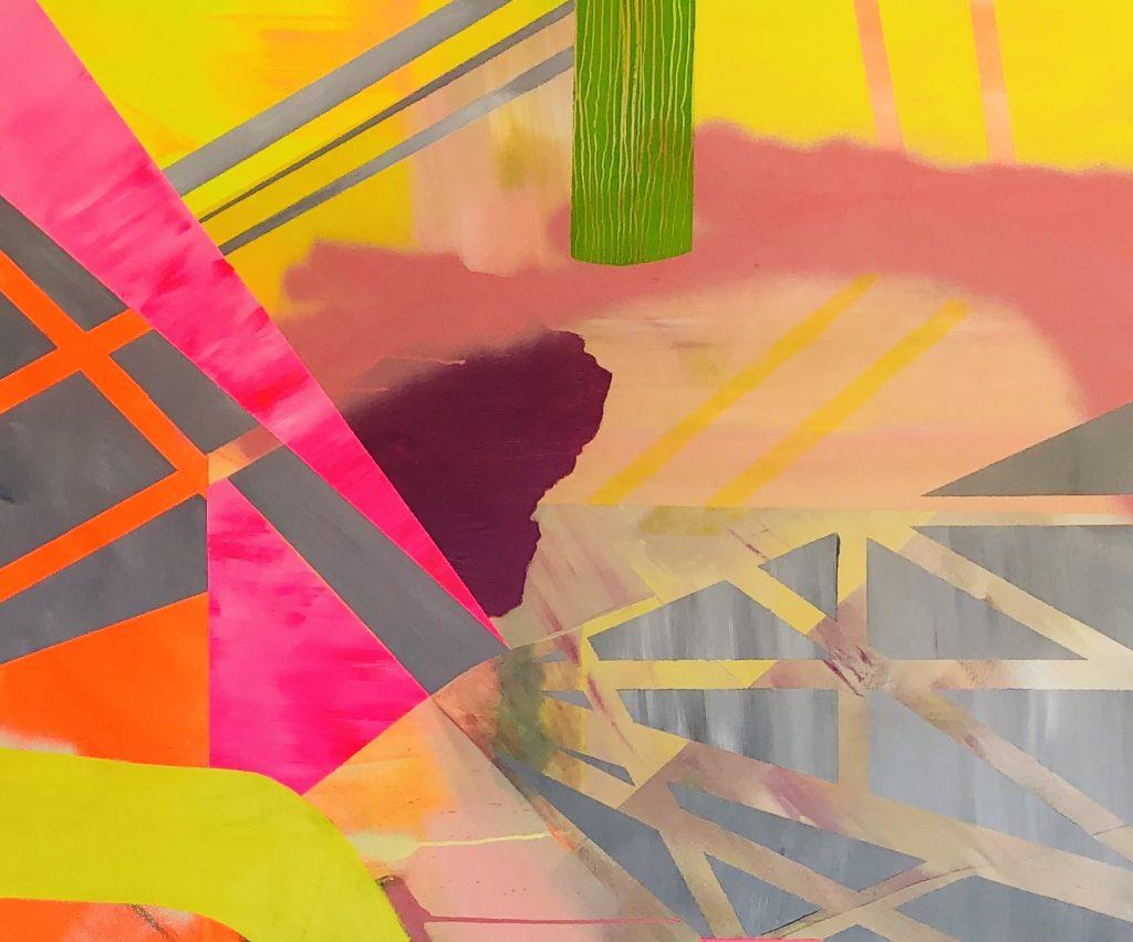 Ursula Schregel, Quadromania 1, 2020, Acryl auf Leinwand, 100x120cm