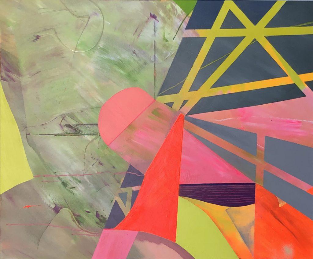 Ursula Schregel, Quadromania 2, 2020, Acryl auf Leinwand, 100x120cm