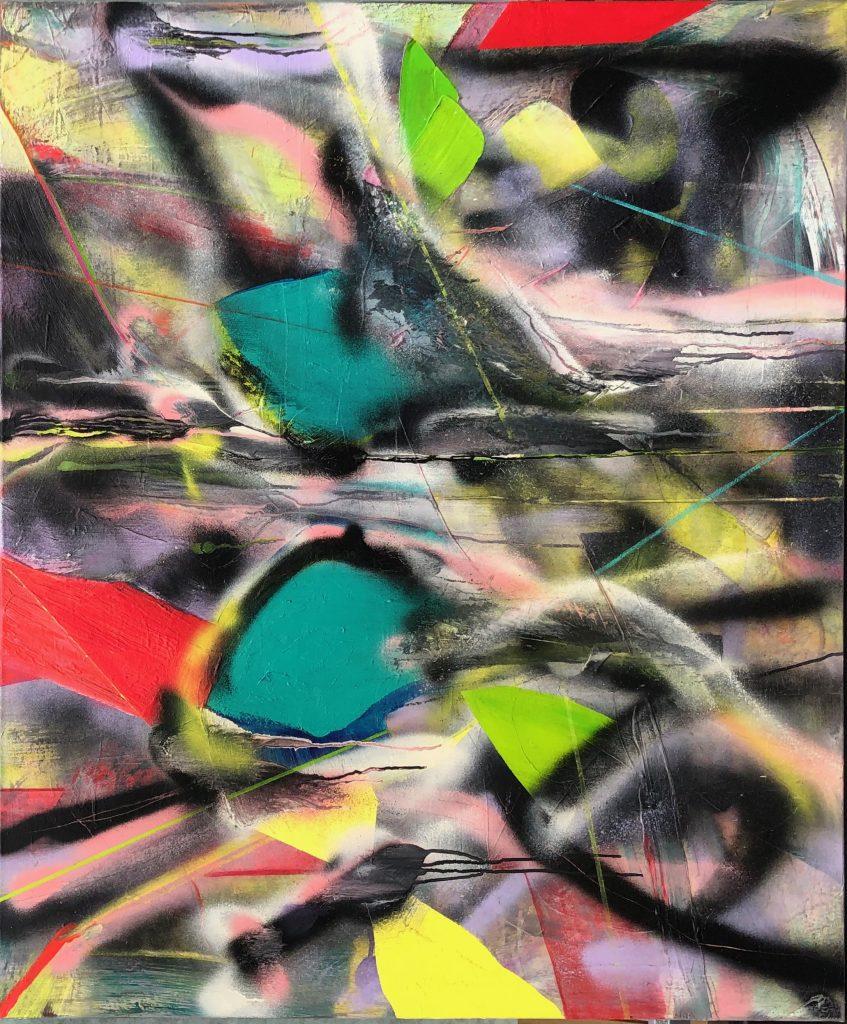 Ursula Schregel, Ojos ardidos, 2020, Acryl auf Leinwand, 120x100cm