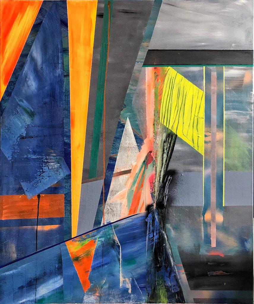 Ursula Schregel, Der Rest der Alpen, 2020, Acryl auf Leinwand, 120x100cm