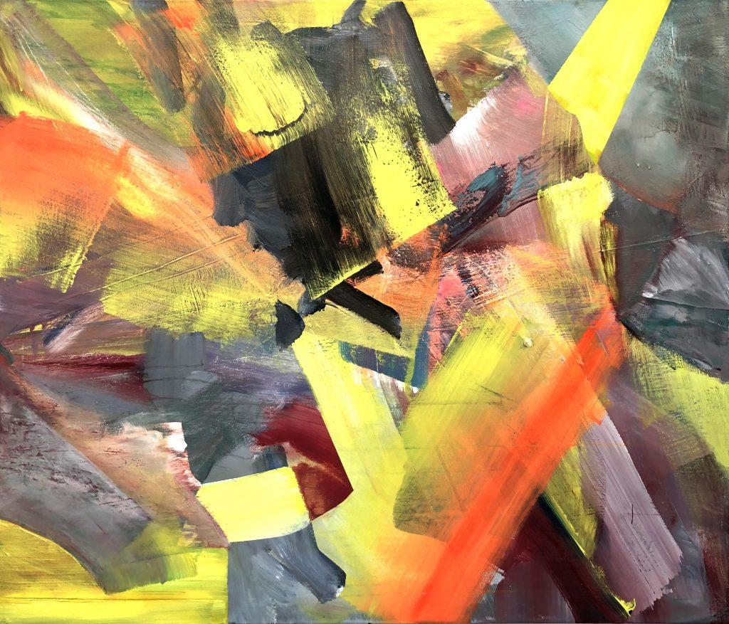 Ursula Schregel, ohne Titel, 2020, Acryl auf Leinwand, 100x120cm