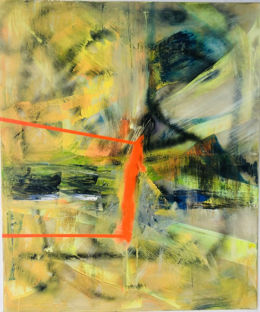 Ursula Schregel, MAScara, 2020, Acryl auf Urban Art, 120x100cm