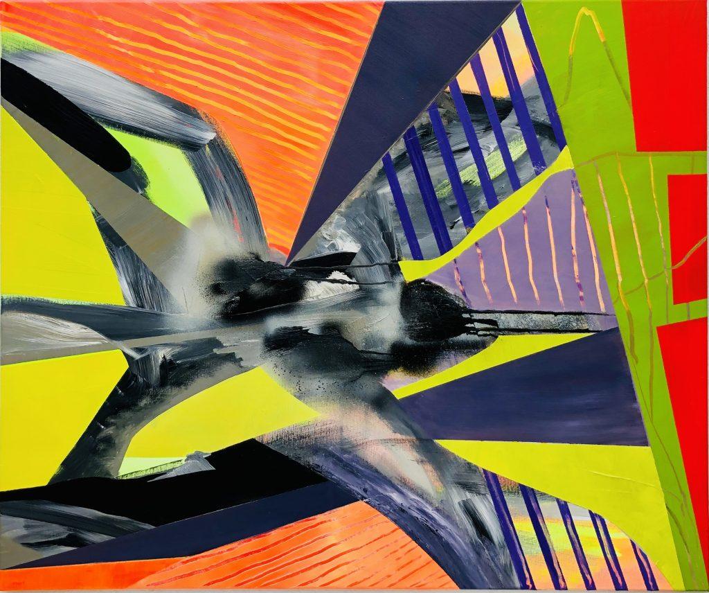 Ursula Schregel, Murciélago, 2020, Acryl auf Leinwand, 100x120cm
