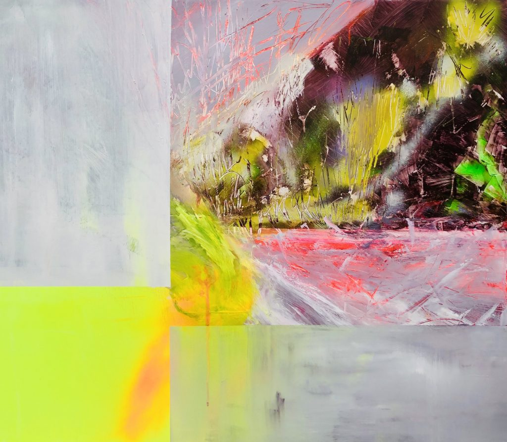 Ursula Schregel, ohne Titel, 2020, Acryl auf Urban Art, 100x120cm